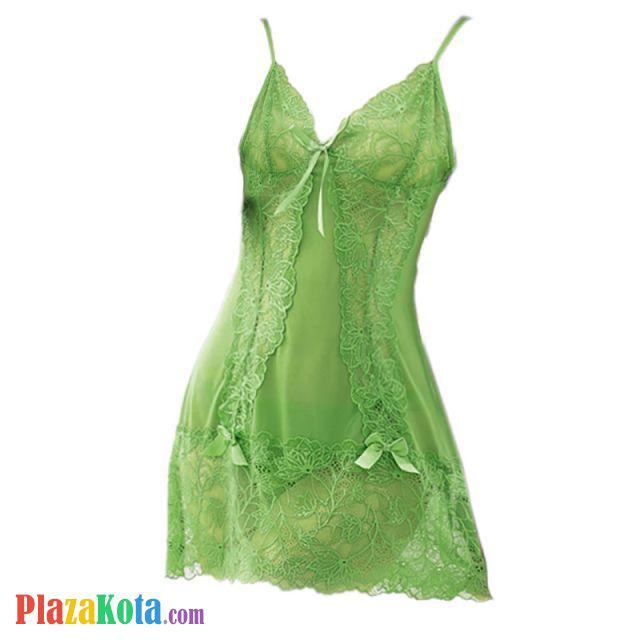 L0470 - Lingerie Nightgown Hijau Transparan - Photo 1