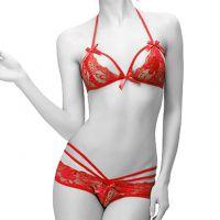 B147 - Bikini Bra Set Halterneck Merah