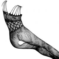 BS116 - Bodystocking Full Body Fishnet Hitam, Crotchless - Thumbnail 2