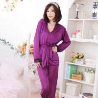 BT004 - Baju Tidur Ungu, Jubah, Baju Dalam, Celana Panjang, Ikat Pinggang