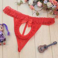 GS075 - Celana Dalam G-String Wanita Merah, Pita - Thumbnail 1