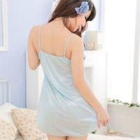 L0709 - Lingerie Nightgown Biru - Thumbnail 3