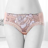 P331 - Celana Dalam Panties Hipster Krem, Bordir Bunga - Thumbnail 1