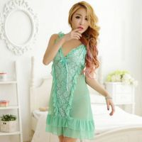 L0896 - Lingerie Nightgown Hijau Transparan