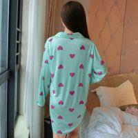 BT005 - Baju Tidur Hijau, Lengan Panjang, Kancing Depan - Thumbnail 2