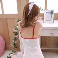 L0173 - Lingerie Costume Nurse / Suster Putih Transparan, Bando - 2