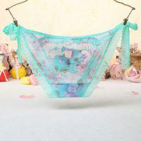 P458 - Celana Dalam Panties Thong Hijau Transparan, Fox Musang, Ikat Samping - Thumbnail 2