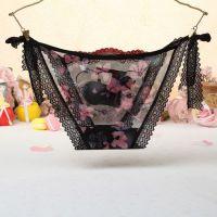 P460 - Celana Dalam Panties Thong Hitam Transparan, Fox Musang, Ikat Samping - Thumbnail 2