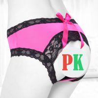 P468 - Celana Dalam Panties Hipster Magenta, Pita, Belakang Terbuka
