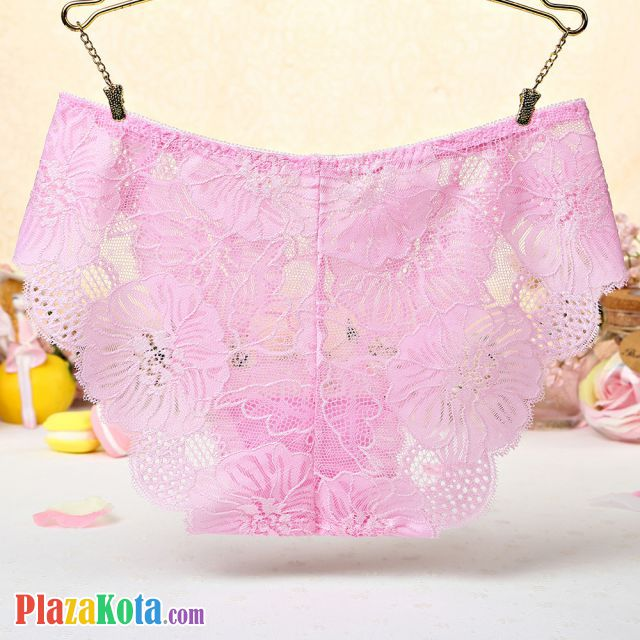 P510 - Celana Dalam Panties Hipster Bunga Pink Transparan - Photo 2