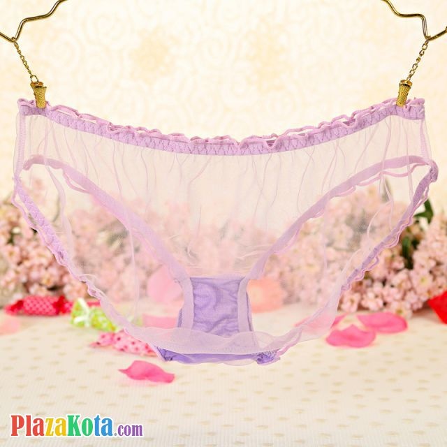 P549 - Celana Dalam Panties Hipster Ungu Transparan - Photo 2