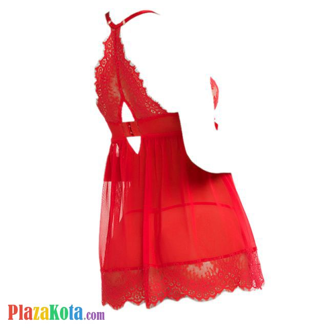 L1183 - Lingerie Nightgown Merah Transparan, Bra Kawat - Photo 2