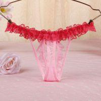 GS346 - Celana Dalam G-String Mutiara Pink Karet Peach - Thumbnail 2