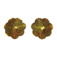 N123 - Nipple Cover Reusable Bunga Manik Gold